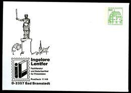 Bund PU113 B2/001 Privat-Umschlag ROLAND Bad Bramstedt 1987 - Monuments