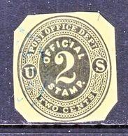 US CUT  SQUARE  U O 1    (o)   1873  ISSUE - Postal Stationery