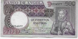 PORTUGAL / Angola -  500 Escudos  1973 - Angola