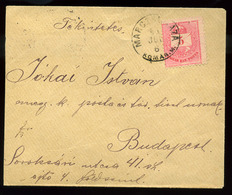92531 MARCZALHÁZA / Marcelová 1891. Krajcáros Levélke Budapestre Küldve  /  MARCZALHÁZA 1891 Kr Leaflet To Budapest - Used Stamps