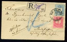 92532 KISKORPÁD 1878. Szép Ajánlott Levél Budapestre Küldve  /  KOSKORPÁD 1878 Nice Reg. Letter To Budapest - Used Stamps