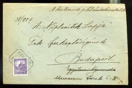92535 KAKASD 1929. Levél Postaügynökségi Bélyegzéssel Budapestre Küldve - Hungary