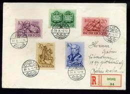 92536 IPOLYSÁG 1939. Szép Ajánlott Levél Békéscsabára Küldve - Hungary