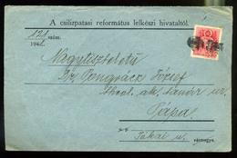 92539 CSILIZPATAS / Pataš 1941. Levél, Néma Bélyegzéssel Pápára Küldve - Hungary