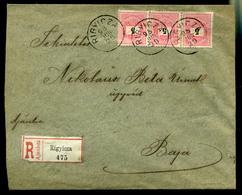 92537 RIGYICZA / Риђица  1898. Ajánlott Levél 3*5kr Bajára Küldve - Used Stamps