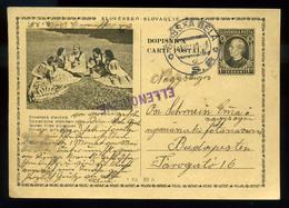 92548 SZEPESBÉLA 1940. Tátra, Képes Díjjegyes Lap, Magyar Cenzúrával Budapestre Küldve - Slovakia