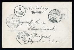 92546 KASSA 1900.02. Képeslap Budapestre Küldve, 8f Portó Bélyegzéssel - Postage Due