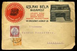 92543 BUDAPEST 1924. Ujlaki Irógép Kereskedés, Dekoratív Reklám Boríték Csongrádra Küldve - Hungary