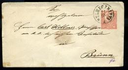 92556 SELMECBÁNYA 1871. Szép 5kr-os Díjjegyes Boríték Brünnbe Küldve - Postal Stationery