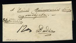 92557 SÁTORALJAÚJHELY  1848.03.12. Levél, Tartalommal, Könyv Rendelés, Budára Küldve - Hungary