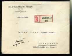 92558 SALGÓTARJÁN 1928. Ajánlott Levél Budapestre Küldve, Friedmann - Hungary