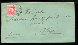 92559 SVEDLÉR / Švedlár 1882. Levél, Tartalommal  5kr-ral Tályára Küldve - Used Stamps