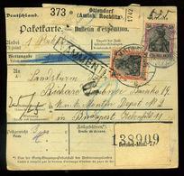 92553 NÉMETORSZÁG 1916. Ottendorf, Csomagszállító Budapestre Küldve , Katonai Címre - Covers & Documents