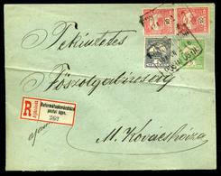 92552 REFORMÁTUSKOVÁCSHÁZA (Mezőkovácsháza Része Volt) 1908. Helyi (!) Ajánlott Levél 26f-rel, Postaügynökségi Bélyegzés - Used Stamps