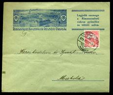 92551 RIMASZOMBAT 1911. Dekoratív, Céges Boríték Miskolcra Küldve - Used Stamps