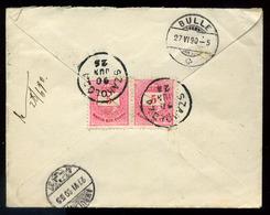 92550 SZAKOLCA 1890. Levél 2*5kr Svájcba Küldve - Used Stamps