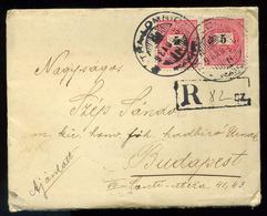 92549 TÁTRALOMNIC 1898. Szép Ajánlott Levél, 3*5kr Budapestre - Used Stamps