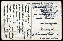 92051 K.u.K. HADITENGERÉSZET  I.VH 1917. Képeslap S.M.S. Huszár Bélyegzéssel - Used Stamps