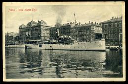 92176 FIUME 1916. Pannonia Kivándorló Hajó, Régi Képeslap Haditengerészeti Postával Kolozsvárra - Hungary