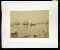 92453 FIUME 1890. Cca. Kikötő, Hajók Régi Fotó , Kép Méret :11,5*8cm - Photographs