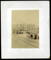 92454 FIUME 1890. Cca. Kikötő, Hajók Régi Fotó , Kép Méret :11,5*8cm - Photographs