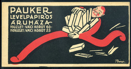 74503 SZÁMOLÓ CÉDULA 1910-20. Cca. Régi Reklám Grafika , Pauker Sign: Bíró - Old Paper
