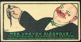 74502 SZÁMOLÓ CÉDULA 1910-20. Cca. Régi Reklám Grafika , Pauker Sign: Bíró - Unclassified