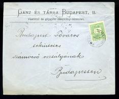 92542 BUDAPEST 1886. Helyi Céges Ganz és Társa Levél, Szép Levélzáróval - Used Stamps