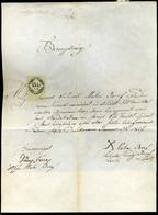 92497 DOMBÓVÁR 1857. Házassági Szülői Beleegyezés , érdekes Régi Dokumentum Okmány Bélyeggel - Revenue Stamps