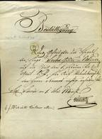 92498 SÁRVÁR  1857. Nyugta Váltó Tartozásról 3kr C.M. Okmánybélyeggel - Revenue Stamps