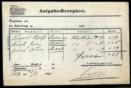 92495 1861. Dekoratív D.D.S.G. Aufgabs-Recepisse - 1850-1918 Empire