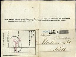 92509 1850. Dekoratív D.D.S.G. Dokumentum Wien > Pesth - 1850-1918 Empire