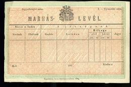 """92494 1861. """" Marhás Levél"""" Használatlan Marha Levél, Kaposvár - Postal Stationery"""