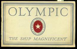 92455 1928. White Star Line , SS Olympic ,  Ismertető Füzet Sok Fotóval! - Unclassified