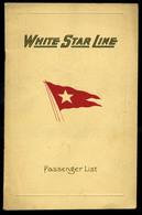 92457 1928. White Star Line , SS Majestic, Utaslista,  Ismertető Füzet - Unclassified