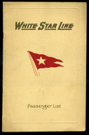 92457 1928. White Star Line , SS Majestic, Utaslista,  Ismertető Füzet - Old Paper
