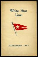 92456 1928. White Star Line , SS Olympic Utaslista, Kétnyelvű Ismertető Füzet - Old Paper