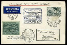 92056 1936. FILPROK, Páros Vitorlázó Repülés Alkalmi Légi Levelezőlap - Airmail