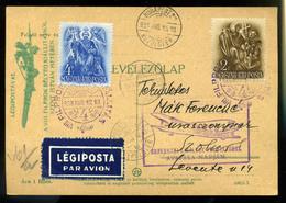 92047 1933. FILPROK Alkalmi  Légi Levelezőlap Budapest-Szolnok - Used Stamps