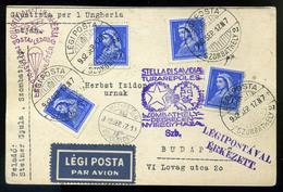 92045 1932 Giustizia Per L'Ungheria Alkalmi Légi Levelezőlap Szombathely-Budapest / 1932 Giustizia Per L'Ungheria Specia - Airmail