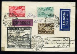 92046 1936. FILPROK Alkalmi Expressz Légi Levelezőlap - Airmail