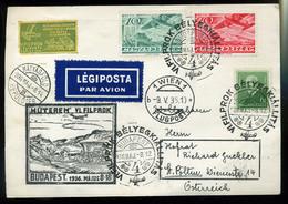 92163 1936. FILPROK Alkalmi  Légi Levelezőlap Ausztriába Küldve - Airmail
