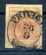 92489 PRIVIGYE / Prievidza  1850.3kr Szép Bélyegzés - 1850-1918 Empire