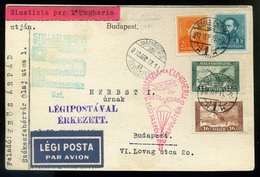 92043 1932 Giustizia Per L'Ungheria Alkalmi Légi Levelezőlap Székesfehérvár-Budapest / 1932 Giustizia Per L'Ungheria Spe - Airmail