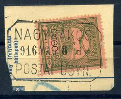 92485 NAGYRÁKOS 1916. Postaügynökségi Lebélyegzés  /  NAGYRÁKOS 1916  Postal Agency Pmk - Used Stamps