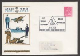 1972  Joint Services Expedition To Chagos Archipelago  Souvenir Cover  2½d. Machin - 1952-.... (Elisabetta II)