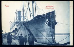 92242 1910. Cca. Carpathia  Kivándorló Hajó,  Fiume,  Régi Képeslap - Steamers