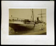 92666 FIUME 1890. Cca. Hajók Régi Fotó , Kép Méret :11,5*8cm - Photographs