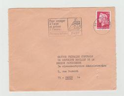 """LSC 1969 - Flamme """"Pour Voyager à L'aise Et Arriver à L'heure Prenons Le Train SNCF """" - Marcophilie (Lettres)"""