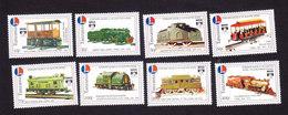 Tanzania, Scott #968-975, Mint Hinged, Model Trains, Issued 1992 - Tanzania (1964-...)
